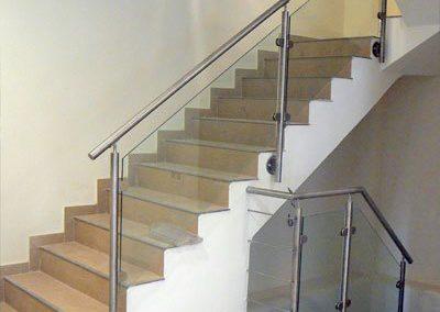 Barandilla Acero inoxidable Escalera + Cristal