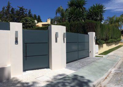 Puertas Garajes Abatible + Puerta Peatonal2